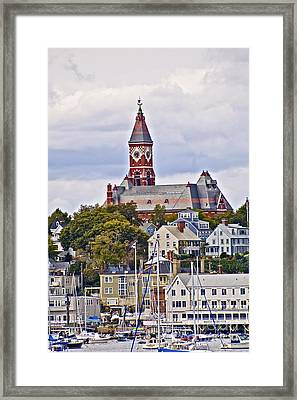 Abbott Hall From Water View Framed Print