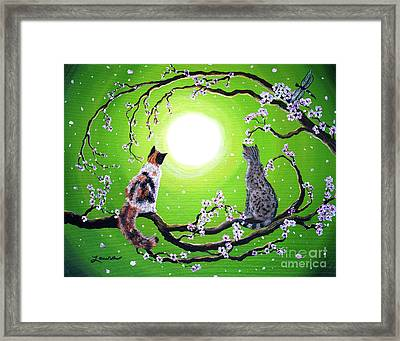 Abby And Caesar In The Spring Framed Print by Laura Iverson
