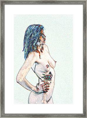 Model 3001 Nude Fine Art Painting In Color 1112.02 Framed Print