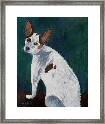 Framed Print featuring the painting Abby by Jamie Frier