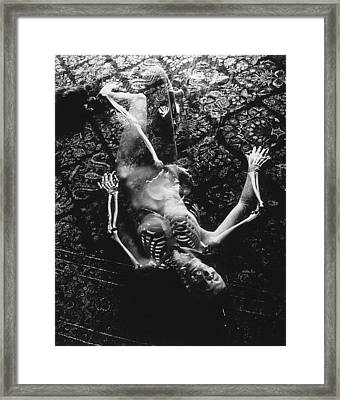 Nude Abby  Martha And Death Framed Print by Randy Sprout