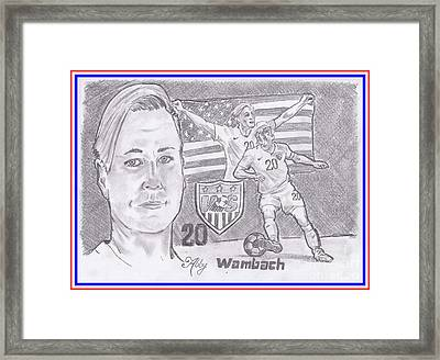 Abby Wambach Framed Print by Chris DelVecchio
