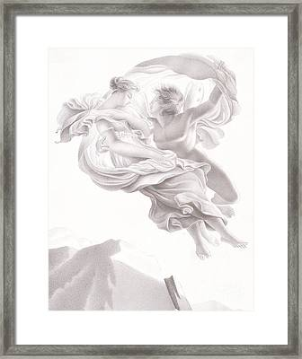 Abduction Of Psyche Framed Print by Therese Macdonale