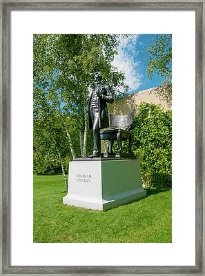 Framed Print featuring the photograph Abe Hanging Out by Greg Fortier