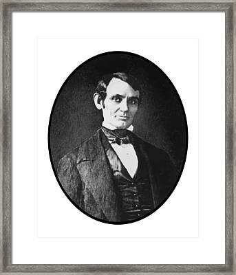 Abe Lincoln As A Young Man  Framed Print