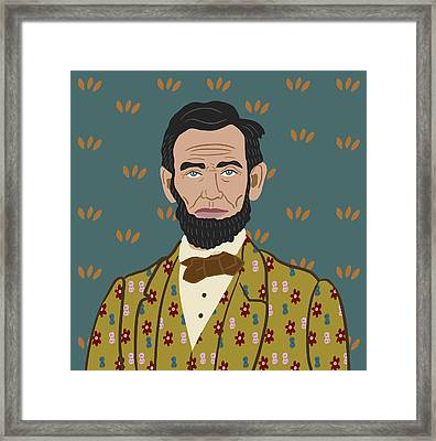 Abe Lincoln Framed Print by Nicole Wilson