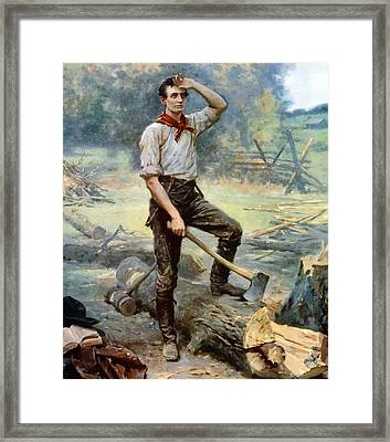 Abe Lincoln The Rail Splitter  Framed Print