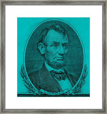 Framed Print featuring the photograph Abe On The 5 Aqua Blue by Rob Hans