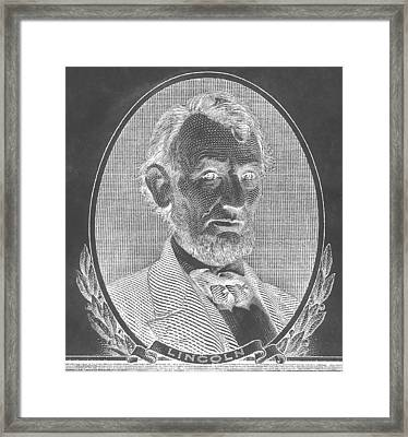 Framed Print featuring the photograph Abe On The 5 B W Inverted by Rob Hans