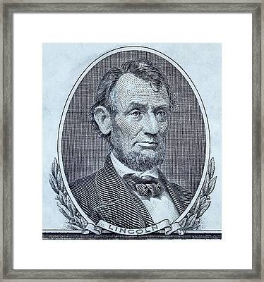 Framed Print featuring the photograph Abe On The 5 Cyan by Rob Hans