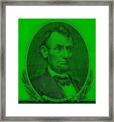 Framed Print featuring the photograph Abe On The 5 Green by Rob Hans