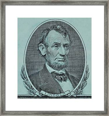 Framed Print featuring the photograph Abe On The 5 Lite Blue by Rob Hans