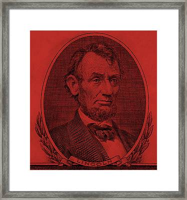 Framed Print featuring the photograph Abe On The 5 Orange by Rob Hans
