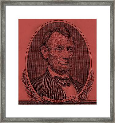 Framed Print featuring the photograph Abe On The 5 Peach by Rob Hans