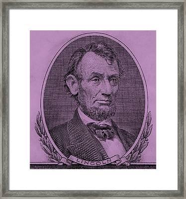 Framed Print featuring the photograph Abe On The 5 Pink by Rob Hans