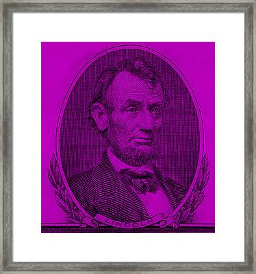 Framed Print featuring the photograph Abe On The 5 Purple by Rob Hans