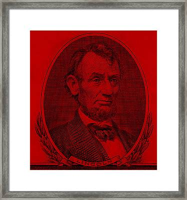 Framed Print featuring the photograph Abe On The 5 Red by Rob Hans