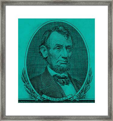 Framed Print featuring the photograph Abe On The 5 Turquoise by Rob Hans