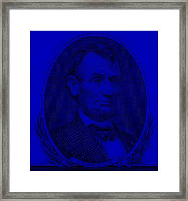 Framed Print featuring the photograph Abe On The 5 Violet by Rob Hans