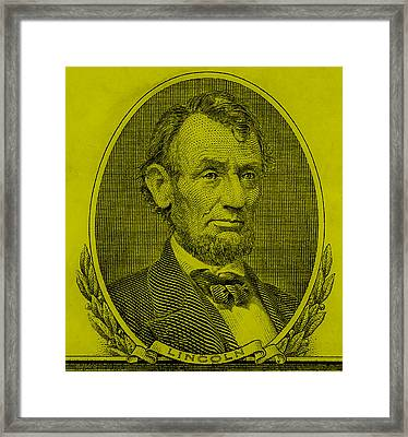 Framed Print featuring the photograph Abe On The 5 Yellow by Rob Hans
