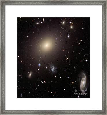 Abell S0740 Galaxies Framed Print by Nasa