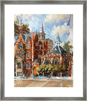 Abercorn-the Old Grammar School Framed Print