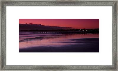 Aberdeen Beach After Sunset Framed Print by Gabor Pozsgai