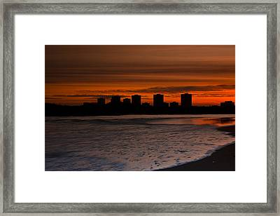 Aberdeen By Sunset Framed Print by Gabor Pozsgai