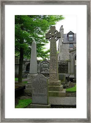 Aberdeen Grave Markers Framed Print by Deborah Smolinske