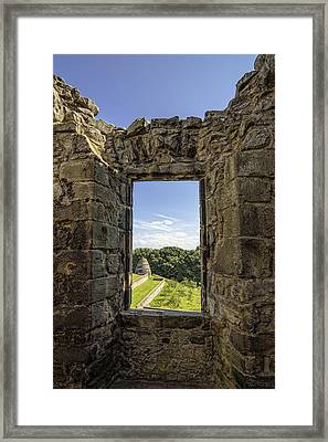 Framed Print featuring the photograph Aberdour Castle by Jeremy Lavender Photography
