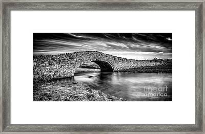 Aberffraw Bridge V2 Framed Print by Adrian Evans