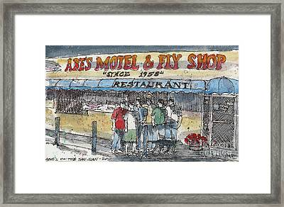 Abes Motel And Fly Shop Framed Print