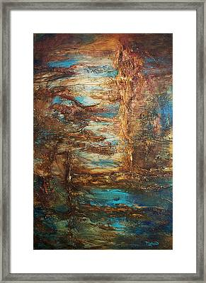 Framed Print featuring the painting Lagoon by Patricia Lintner