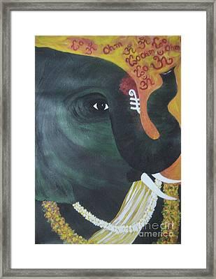 Abhaya Ganapathi Framed Print