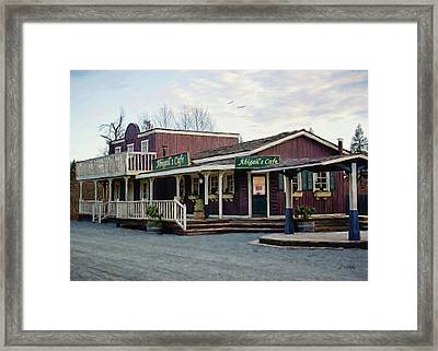 Abigail's Cafe - Hope Valley Art Framed Print