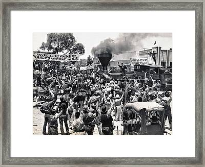 Abilene Movie Scene Framed Print by Underwood Archives
