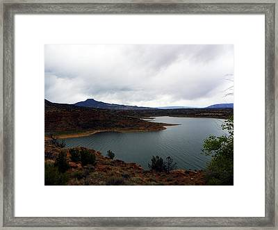 Abique Lake Nm Framed Print by Joseph Frank Baraba