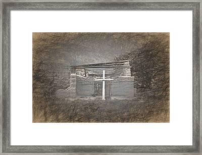 Abiquiu Nm Church Ruin Framed Print