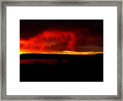 Framed Print featuring the painting Abiquiu Reservoir  by Dennis Ciscel