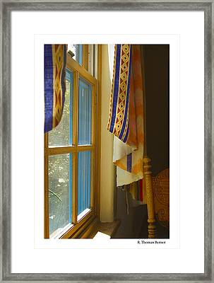 Framed Print featuring the photograph Abiquiu Window by R Thomas Berner