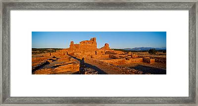 Abo Ruins Salinas Pueblo Missions Framed Print by Panoramic Images