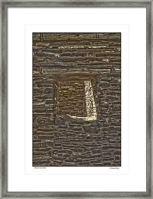 Abo Window Framed Print by R Thomas Berner