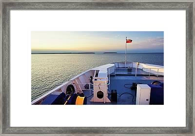 Aboard The Chi-cheemaun Framed Print