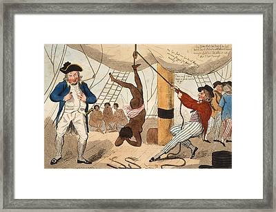 Abolition Of The Slave Trade Or Framed Print by Vintage Design Pics