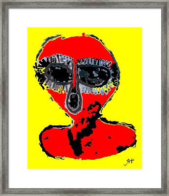 Aboriginal Alien Framed Print