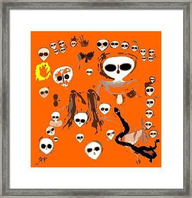 Aboriginal Aliens  Framed Print