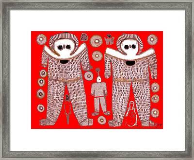 Aboriginal Astronauts Framed Print