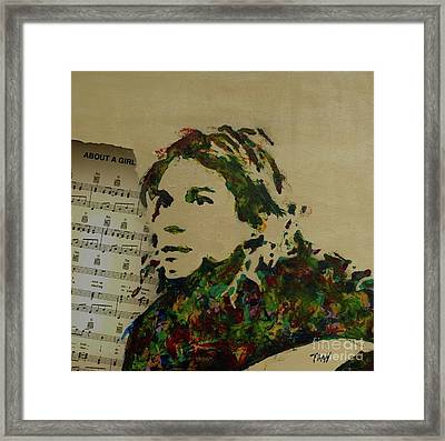 About A Girl Framed Print