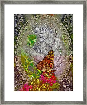 about LOVE. Butterfly effect. Framed Print