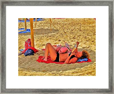 about LOVE. Lovers. Framed Print